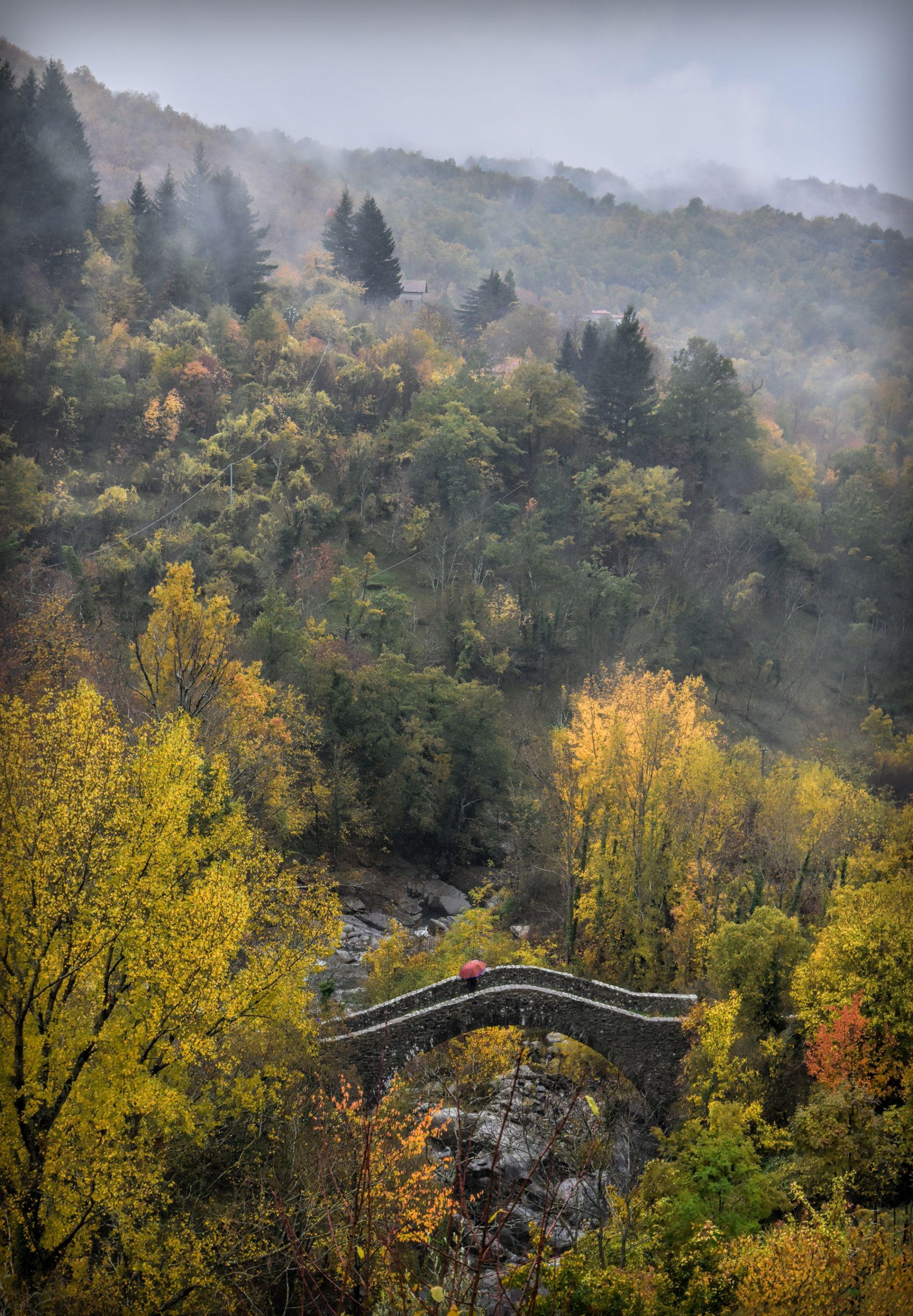 Medieval bridge in Groppodalosio