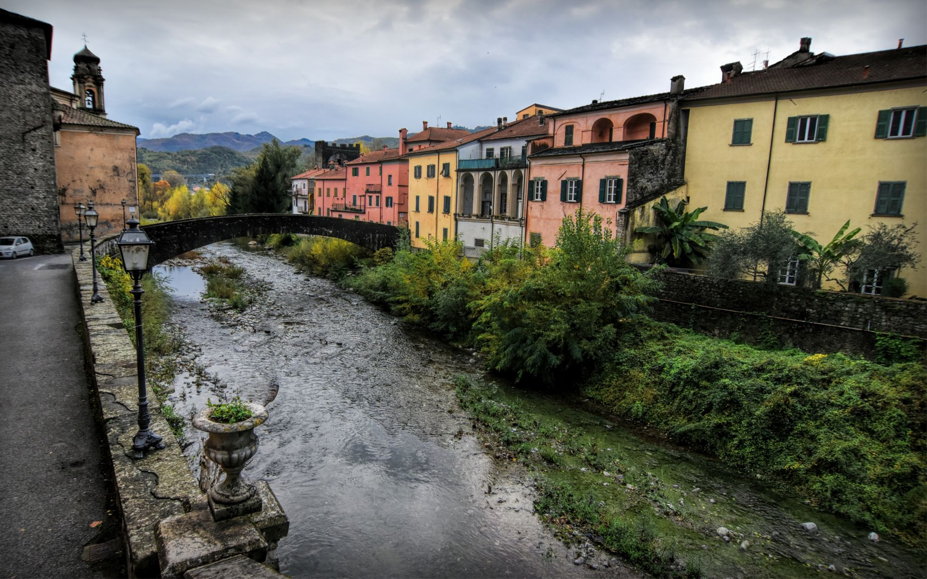 The Magra river in Pontremoli